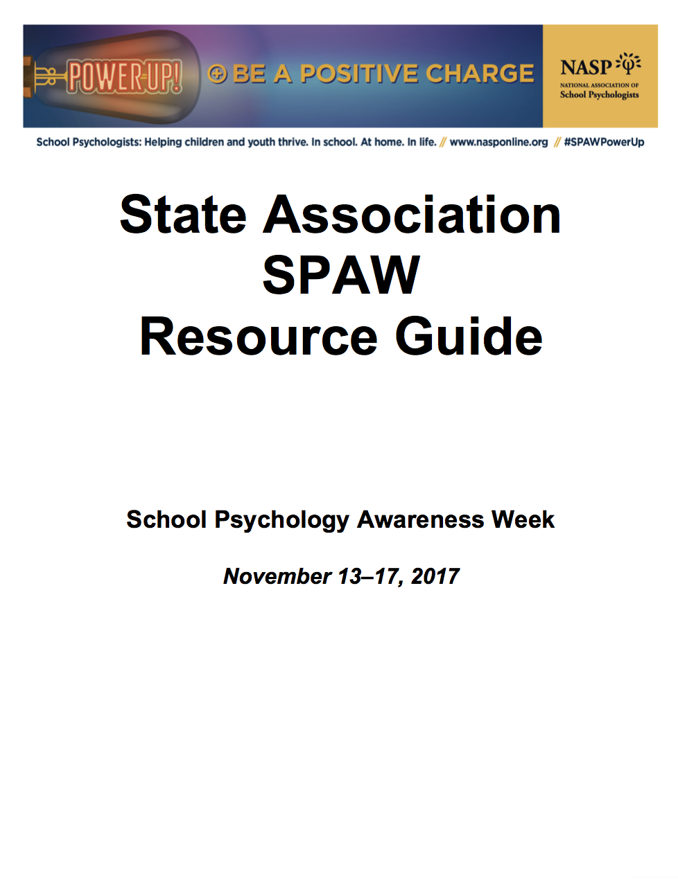 SPAW 2017 State Association Resource Guide