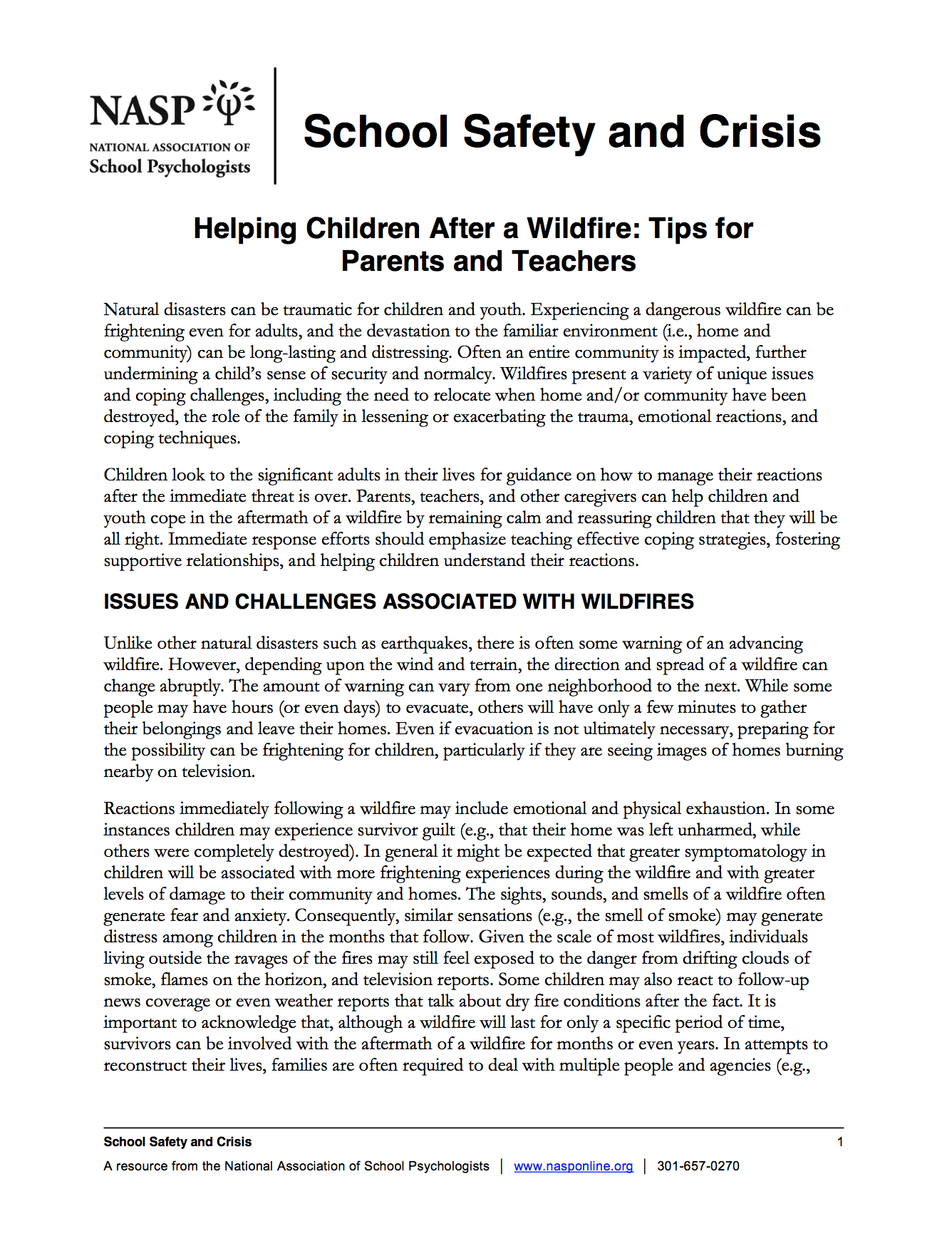 Helping Children After A Wildfire Tips For Parents And Teachers