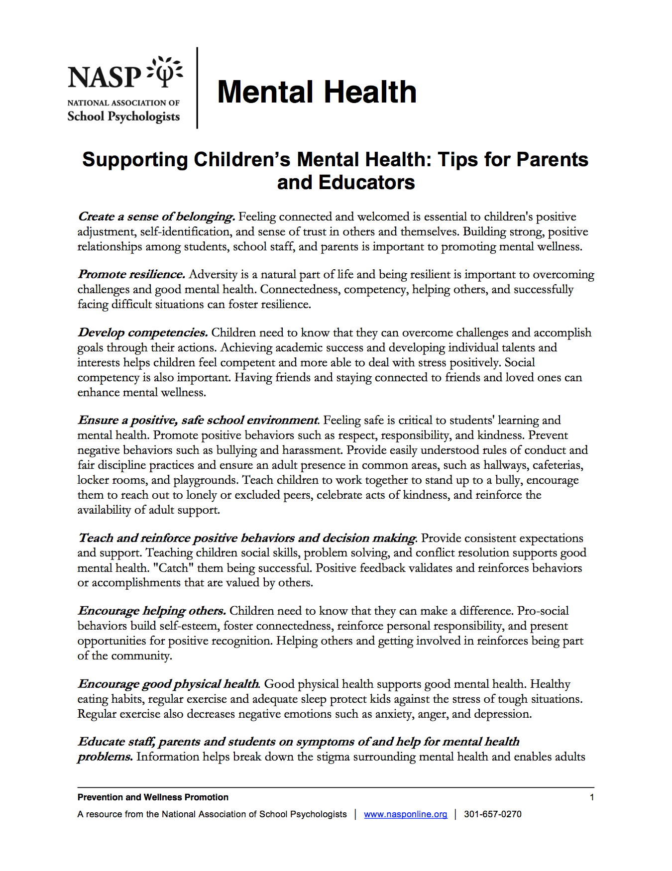 Supporting childrens mental health tips for parents and educators xflitez Gallery