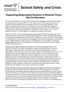 Supporting Marginalized Students in Stressful Times: Tips for Educators